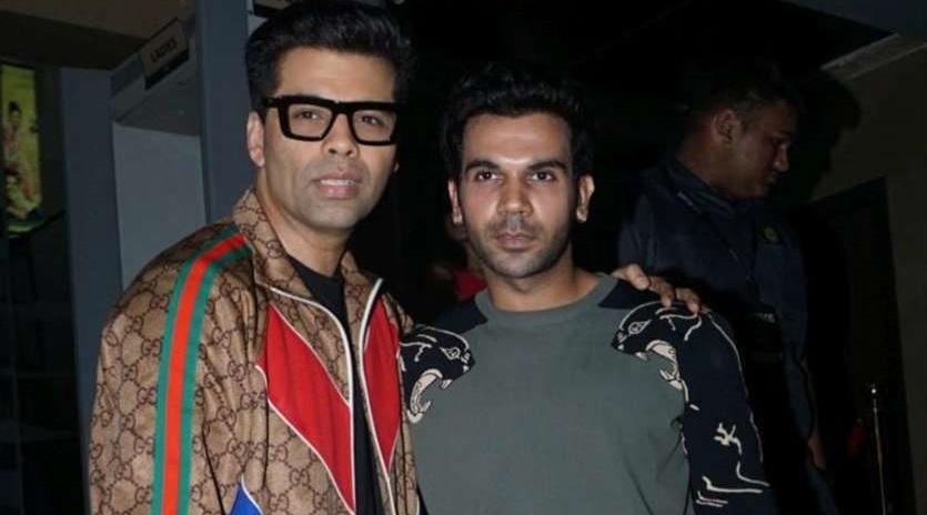 Rajkummar Rao and Karan Johar