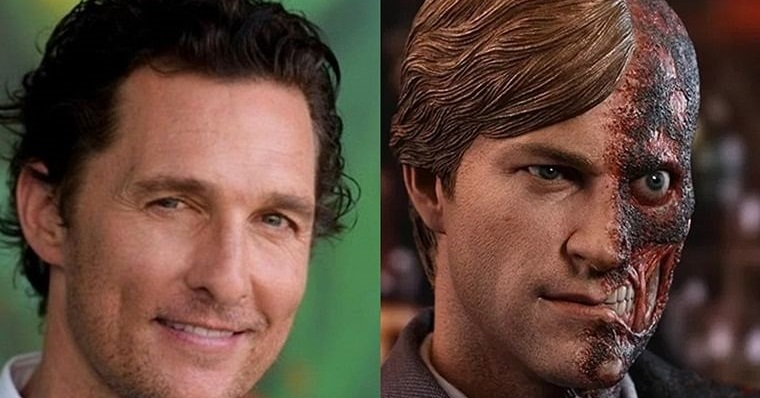 Matthew McConaughey Harvey Dent The Batman Robert Pattinson
