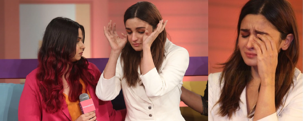 Alia Bhatt Crying